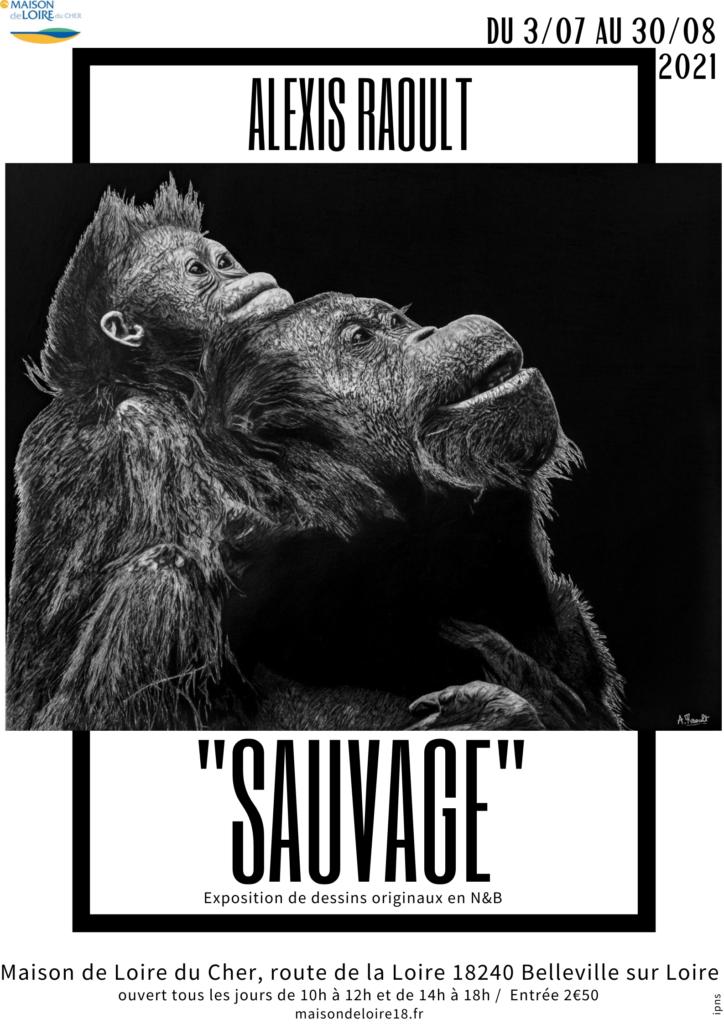 """Exposition """"Sauvage"""" Dessins d'Alexis Raoult"""