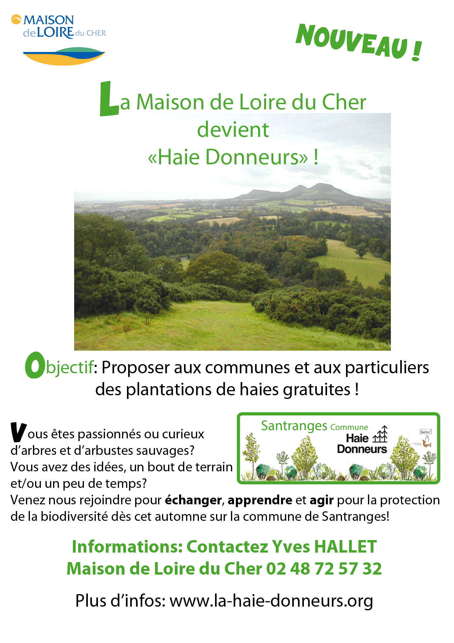 """La Maison de Loire du Cher devient """"HAIE DONNEURS"""""""