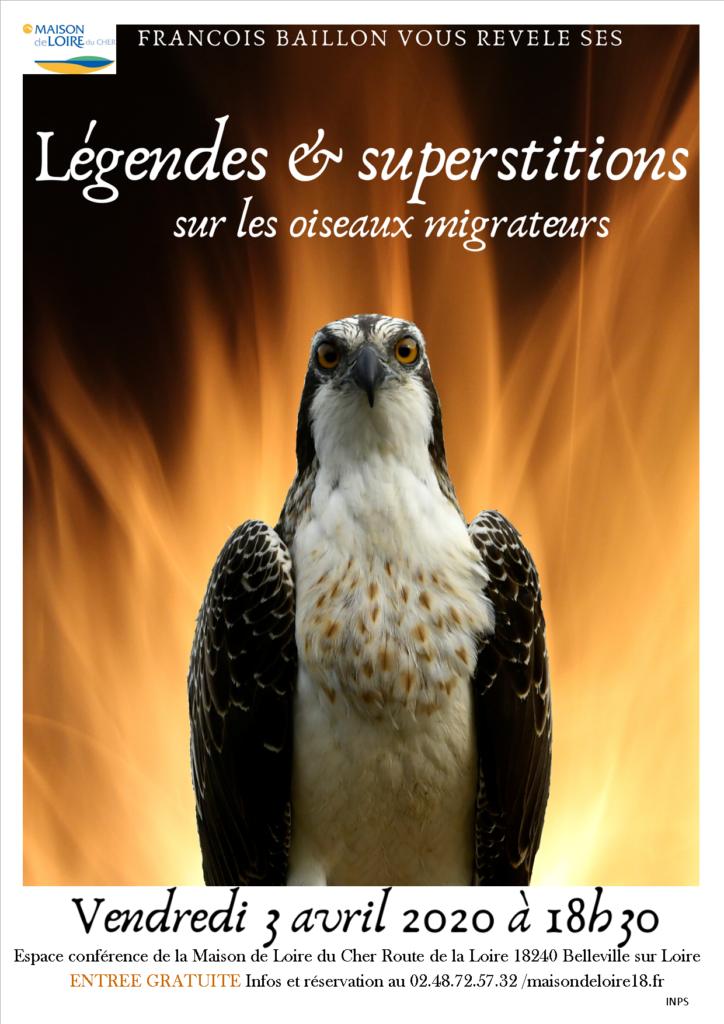"""REPORTEE Conférence """"Légendes et superstitions, les oiseaux migrateurs"""""""