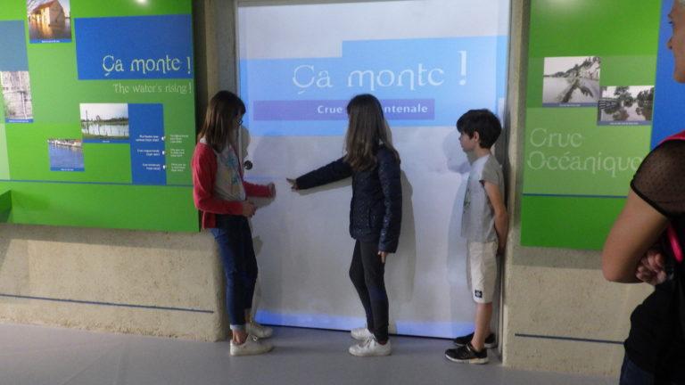 Espace scénographié la Loire vagabonde de la Maison de Loire du cher